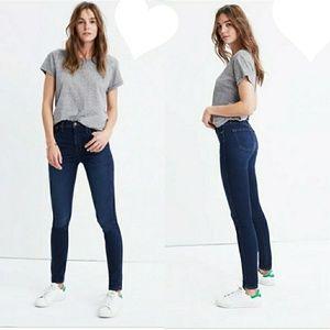 Madewell Skinny Skinny Dark Wash Blue Jeans 25